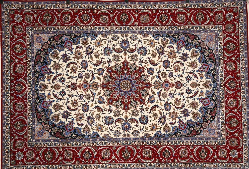 Tappeto Persiano Isfahan   Dekastenopmaat